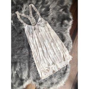 Billabong Crochet Back Flowy Tiedye Swing Dress